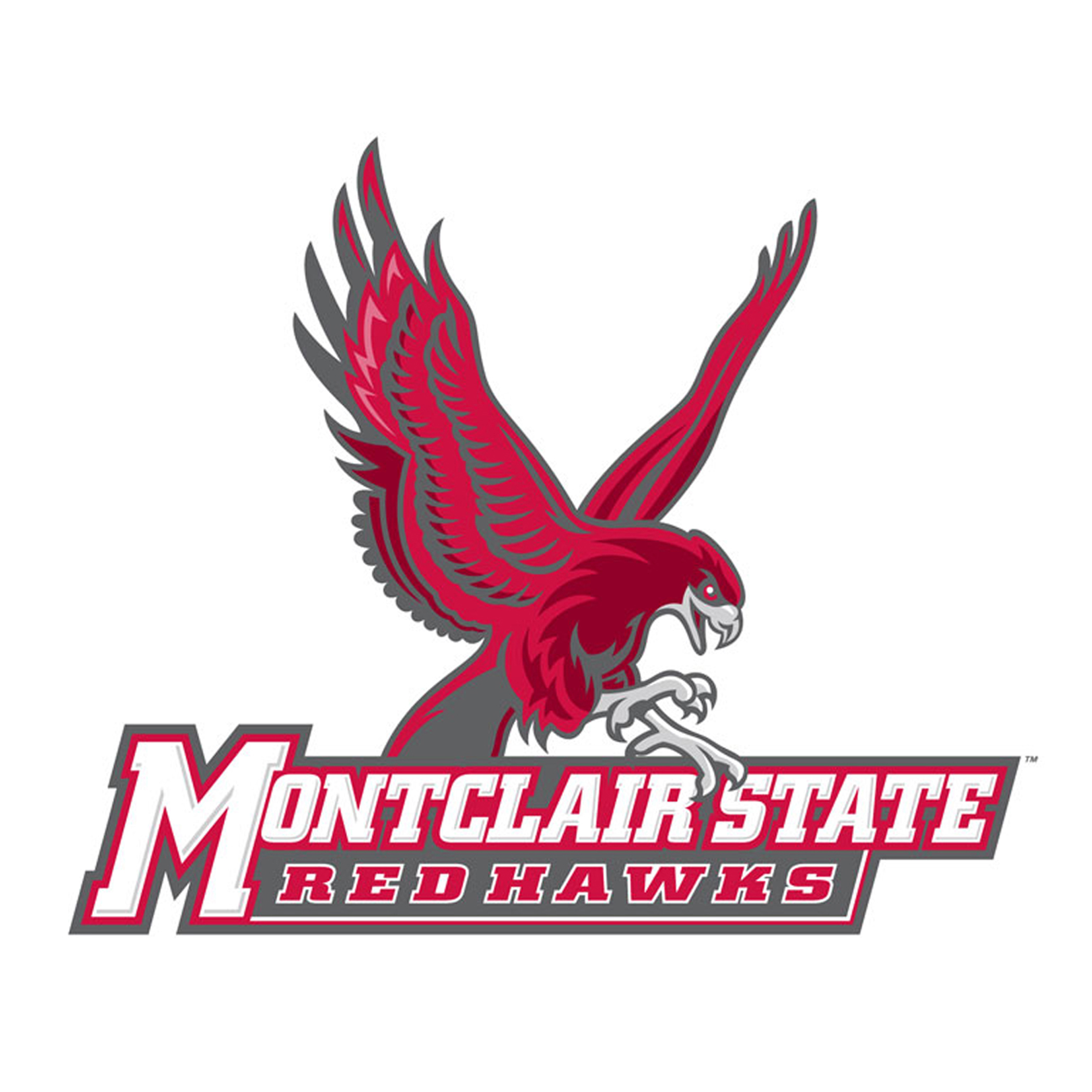 red hawk athletic logos montclair state university athletics